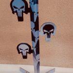 Arbre à Duel «SKULL 4», gros calibre , démontable