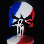 MT-SKULL , sur socle, trophée , presse-papier, Punisher…